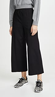 Stateside Ponte Cropped Wide Leg Pants