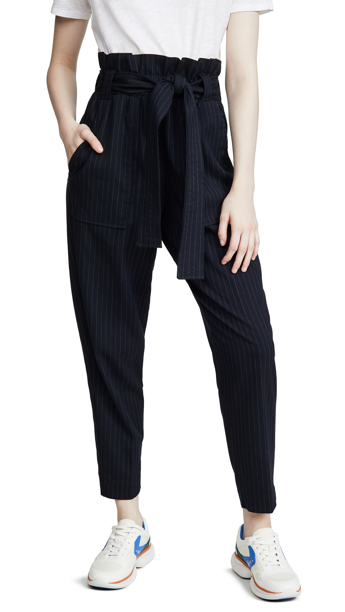 Buy Stateside online - photo of Stateside Paperbag Pinstripe Pants