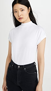 Stateside Mock Neck Dolman Top