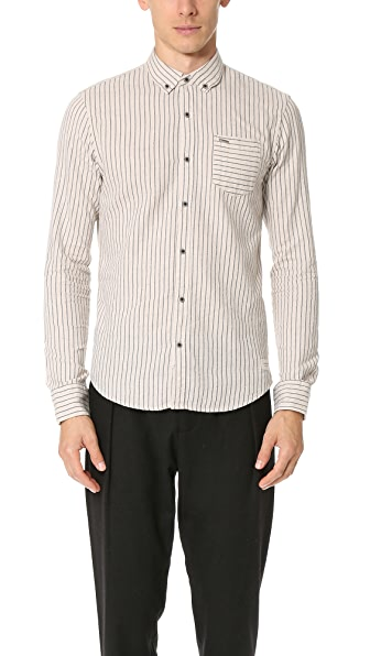 Scotch & Soda Brushed Cotton Button Down Shirt