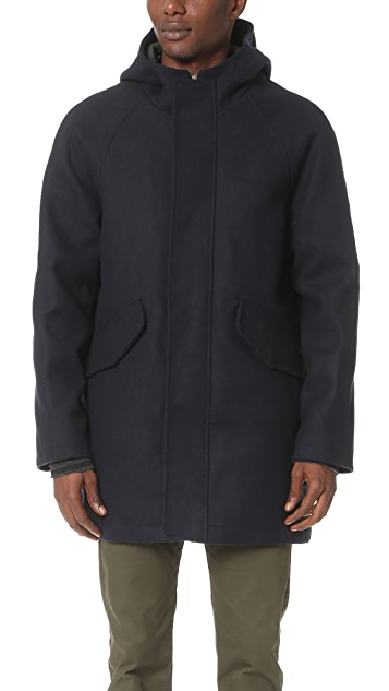 Scotch & Soda Long Hooded Coat