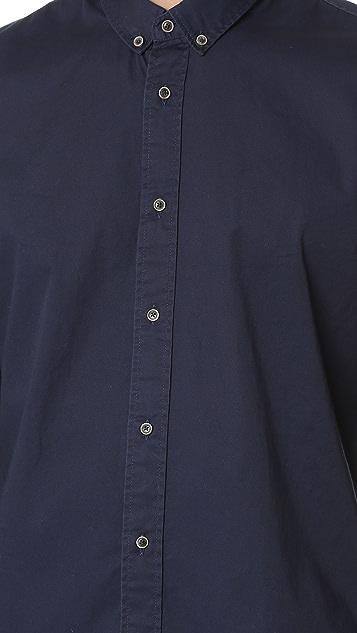 Scotch & Soda Washed Twill Button Down Shirt
