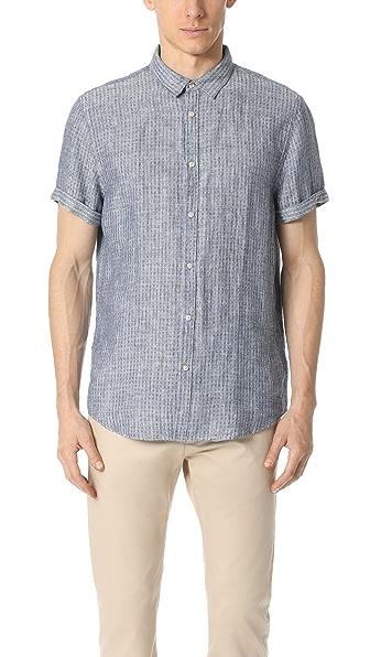 Scotch & Soda Structured Linen Short Sleeve Shirt