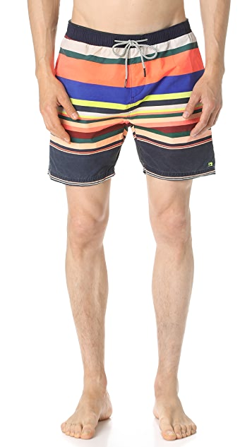 Scotch & Soda Colorful Medium Length Swim Shorts