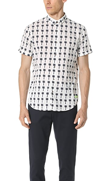 Scotch & Soda Short Sleeve Crispy Cotton Shirt