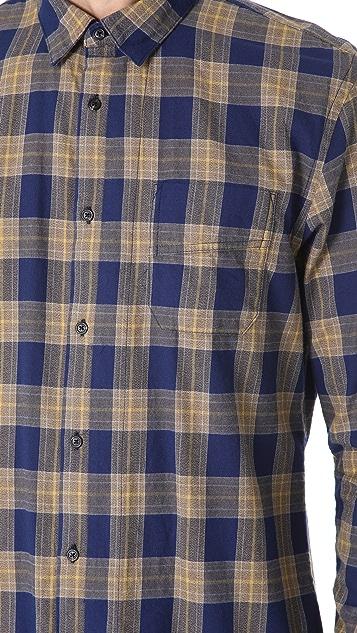 Scotch & Soda Plaid Long Sleeve Shirt