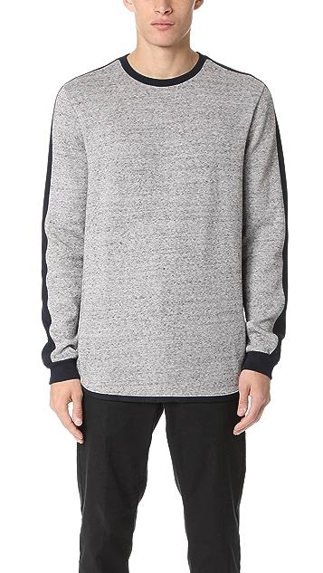 Scotch & Soda Crew Sweater with Sleeve Panel