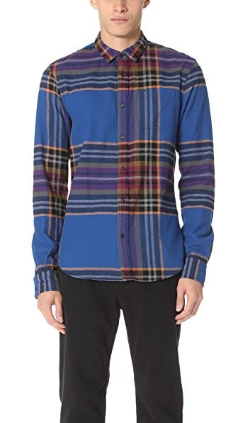 Scotch & Soda Multi Check Long Sleeve Shirt