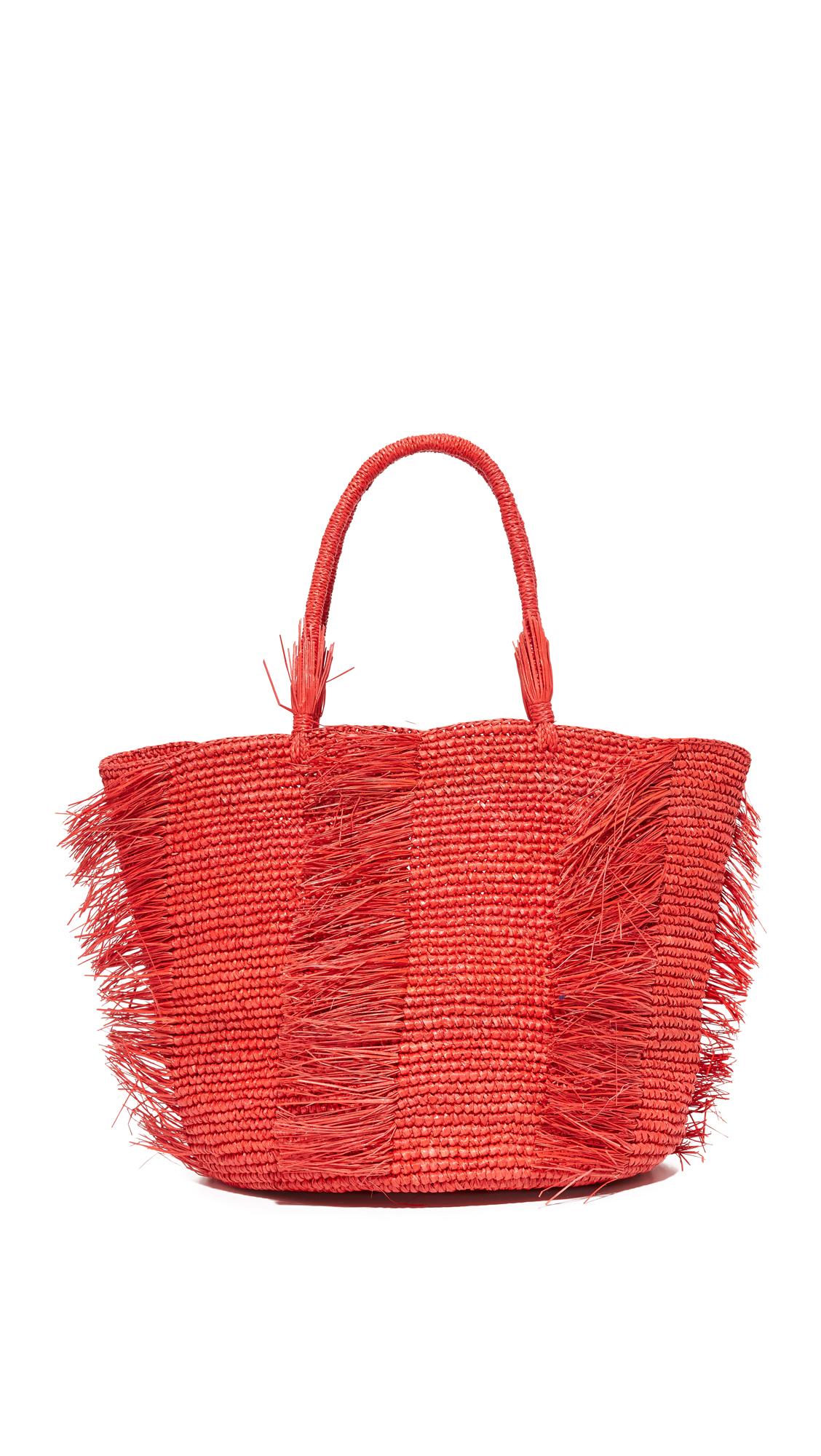 sensi studio female sensi studio toquilla straw bag red