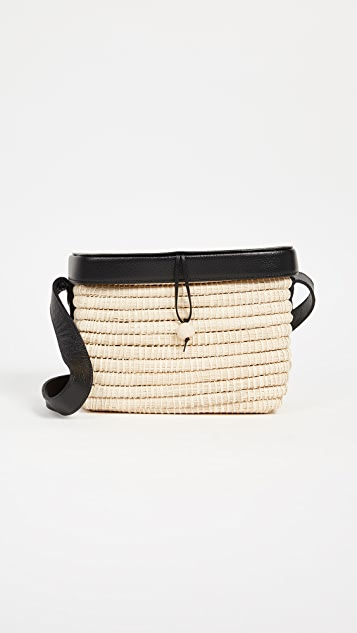 Sensi Studio Structured Straw Handbag