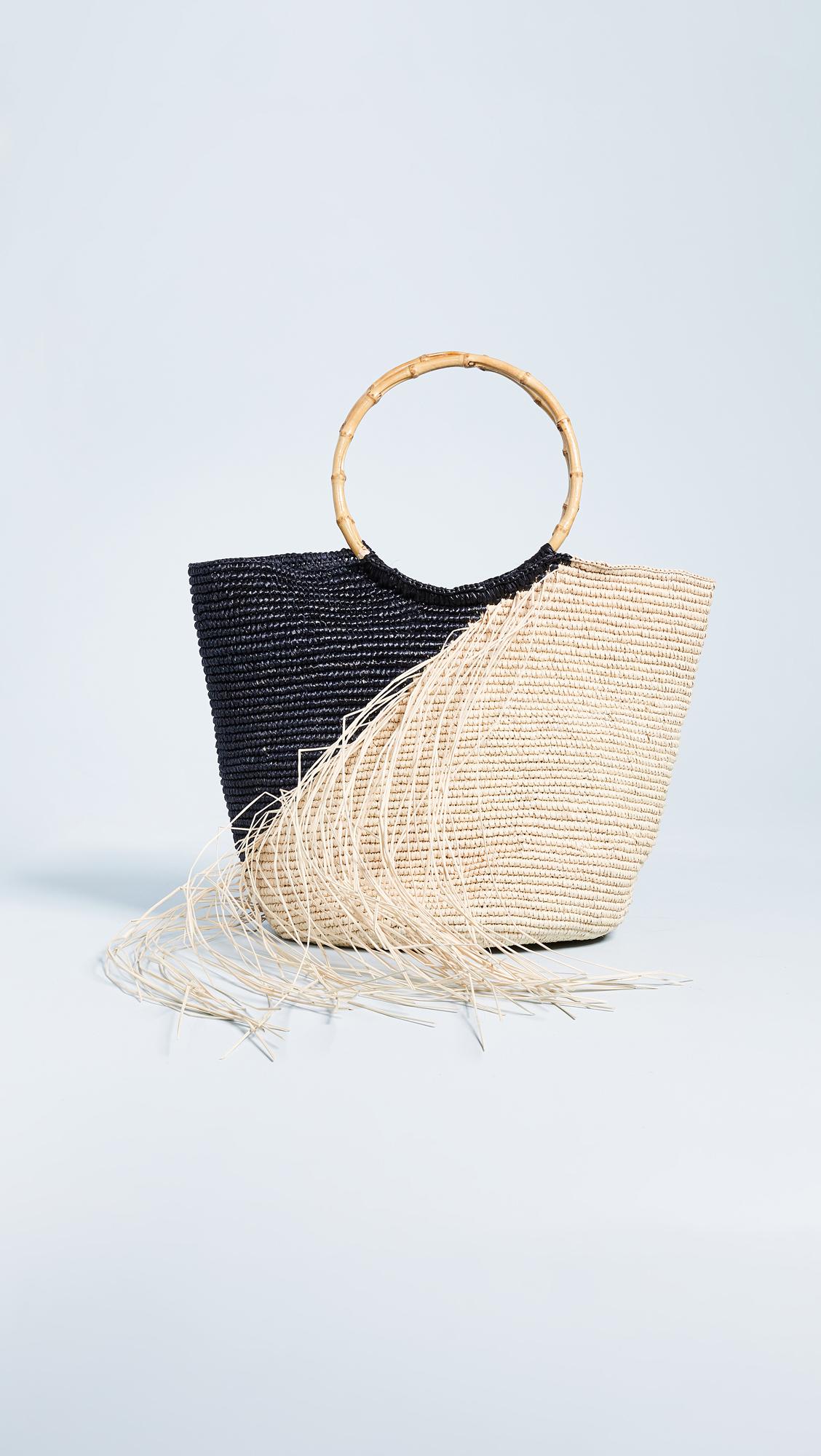 e51d523268fe3 Sensi Studio Maxi Frayed Tote Bag