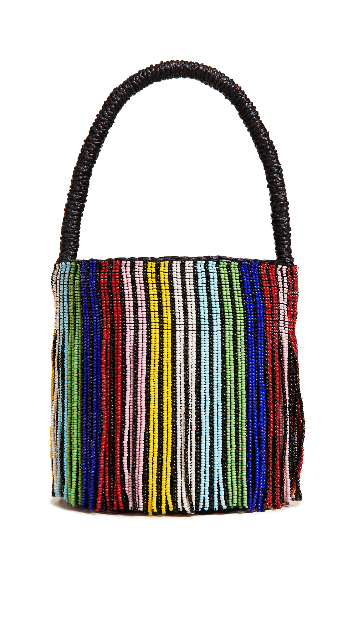 MINI MINI BEADED BUCKET BAG