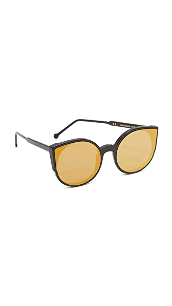 Super Sunglasses Lucia Forma Sunglasses - Black/Gold