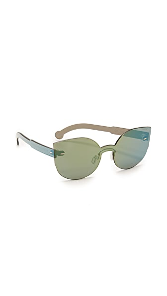 Super Sunglasses Tuttolente Lucia Petrol Sunglasses