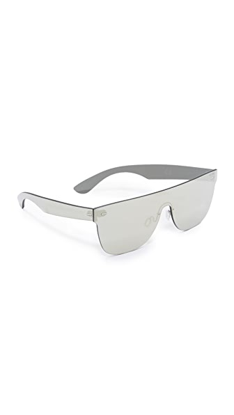Super Sunglasses Tuttolente Flat Top Sunglasses - Ivory/Ivory