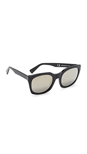 Super Sunglasses Quadra Sunglasses - Black/Ivory