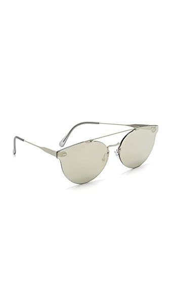 Super Sunglasses Tuttolente Giaguaro Sunglasses - Silver/Ivory