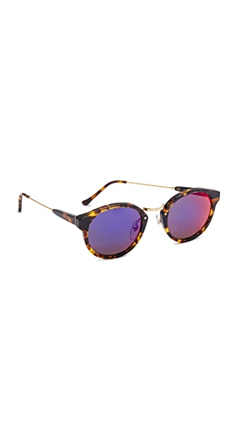 Super Sunglasses Panama Infrared Sunglasses In Burnt Havana/Infrared