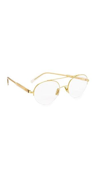 Super Sunglasses Numero 24 Glasses In Gold/Clear