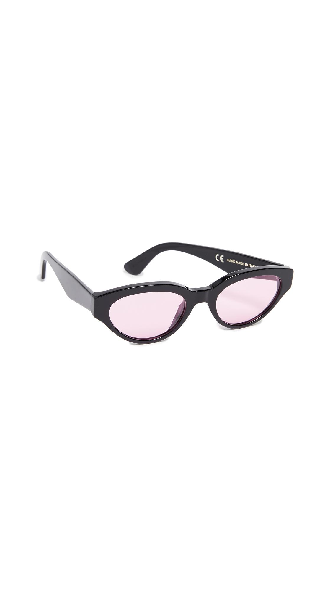 SUPER SUNGLASSES Drew Sunglasses in Black Pink