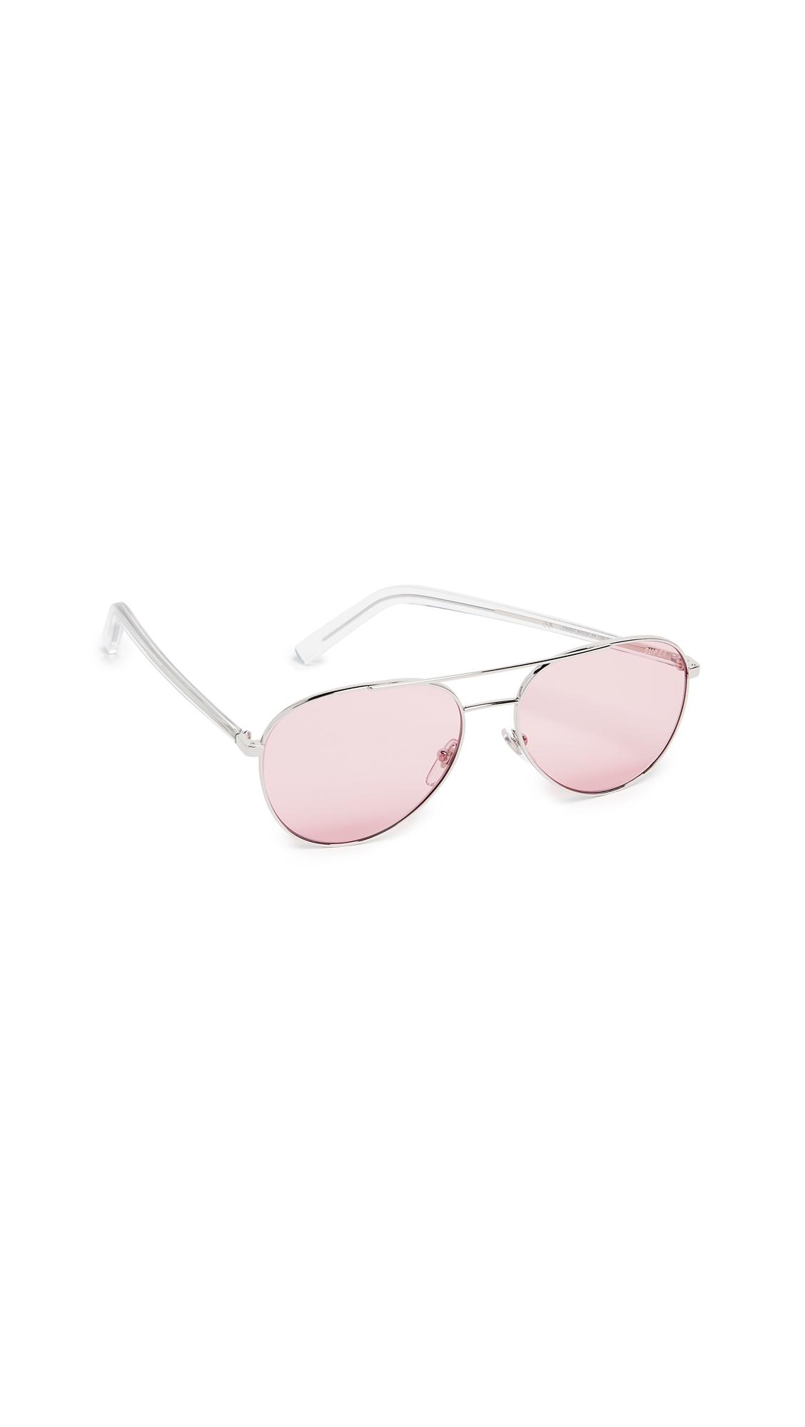 SUPER SUNGLASSES Ideal Aviator Sunglasses in Pink