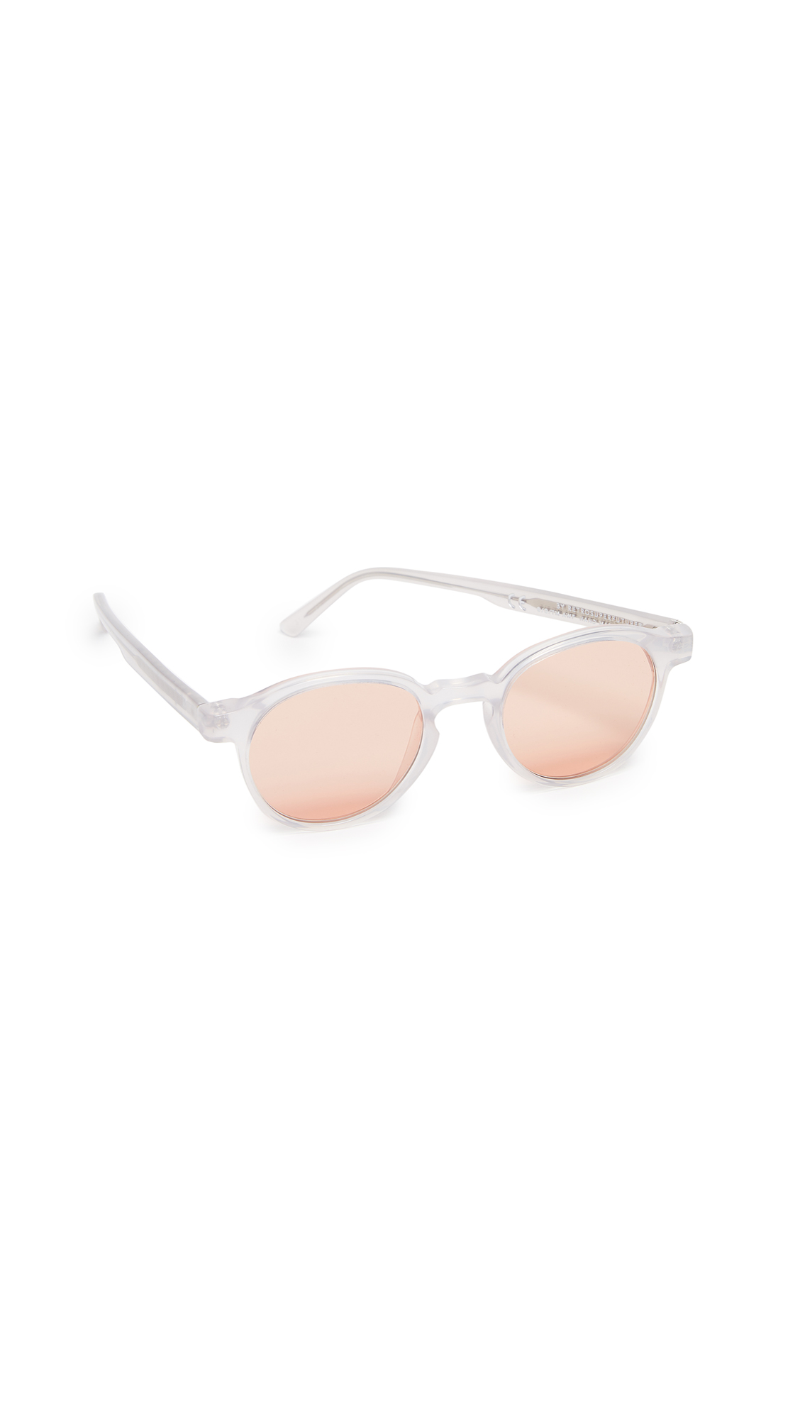 SUPER SUNGLASSES X Andy Warhol Iconic Sunglasses in Crystal Grey