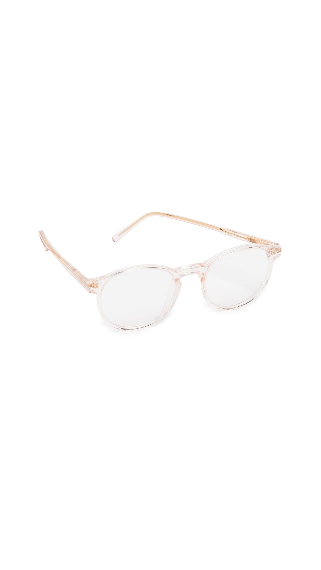 SUPER SUNGLASSES Numero 1 Glasses in Crystal Rose