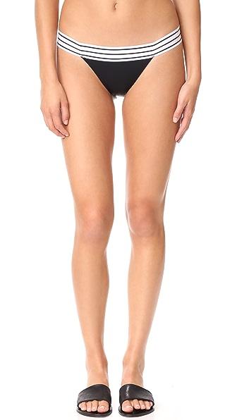 SAME SWIM The Lola Low Rise Bikini Bottoms - Noir/Blanc