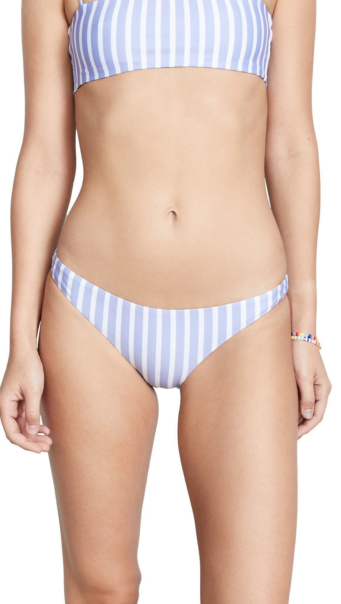 SAME SWIM Brief Bottoms In Mediterranean Stripe