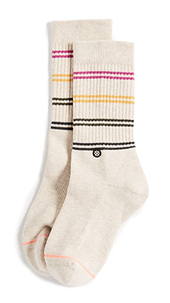 STANCE Jah Crew Socks In Oatmeal