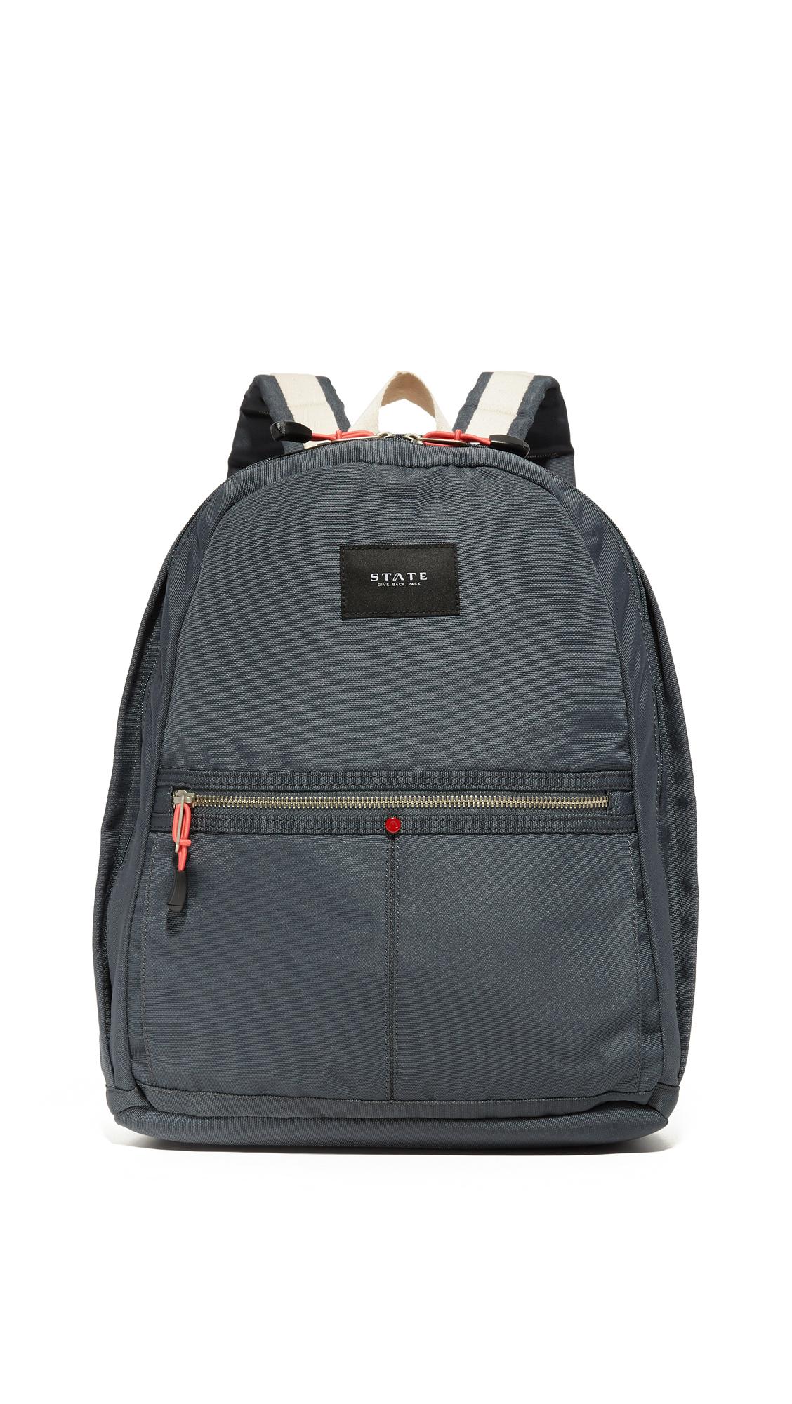 state female state kent backpack dark grey