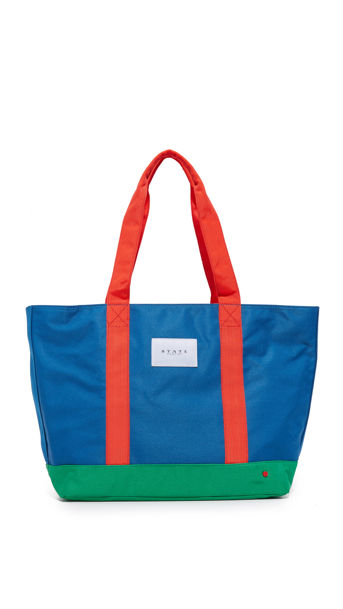 state female state snyder tote royal blue multi
