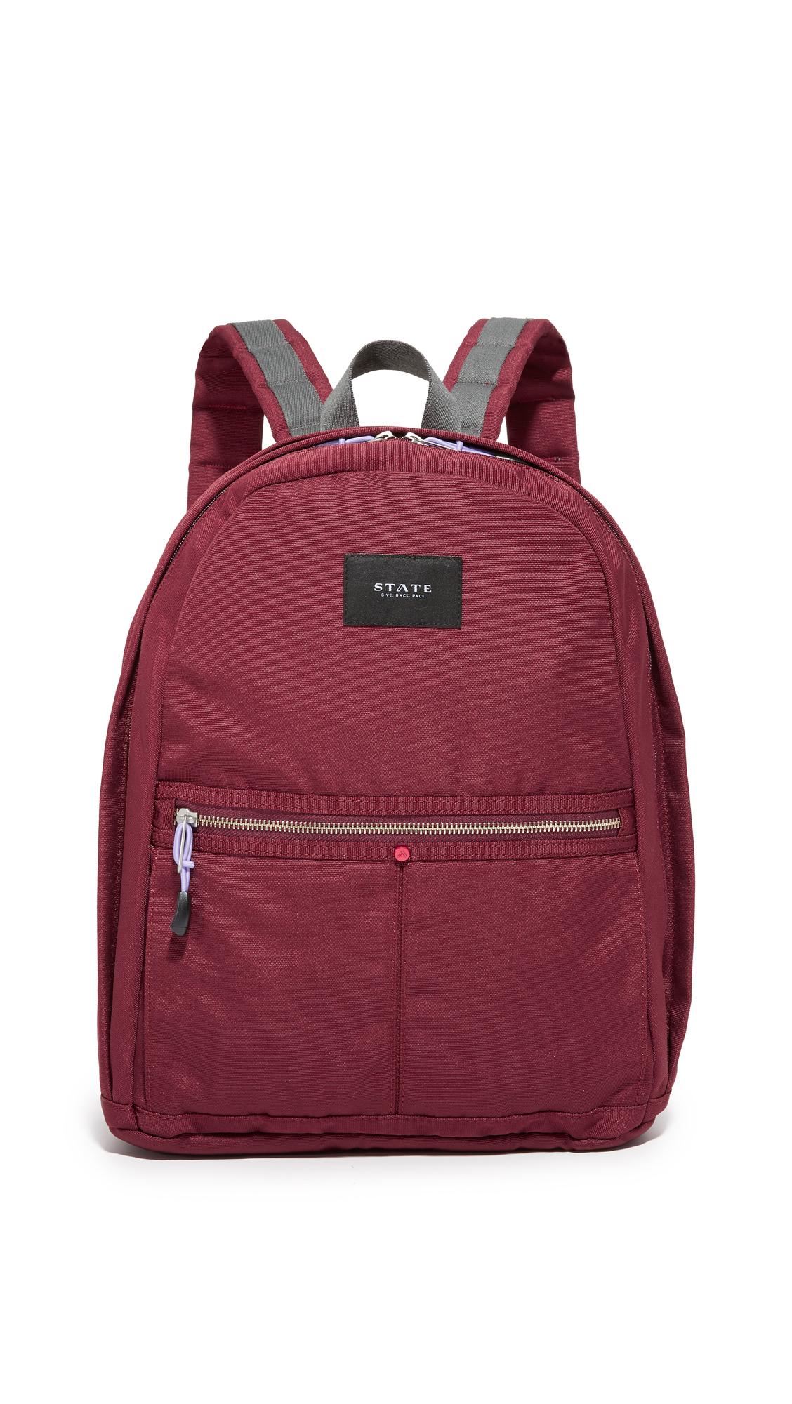 state female state kent backpack burgundy
