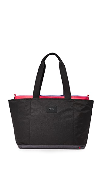 STATE Wellington Baby Bag - Black