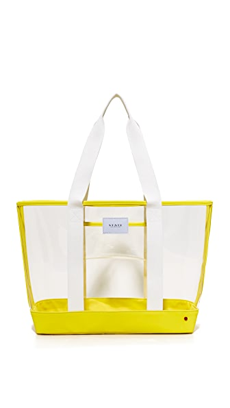 STATE Graham Tote - Clear/Yellow