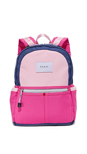 STATE Mini Kane Backpack - Navy/Rose