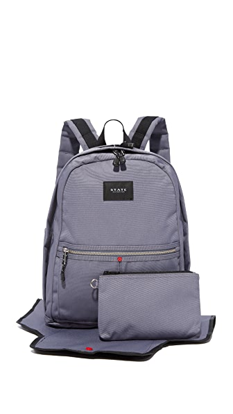 STATE Highland Diaper Backpack In Excalibur
