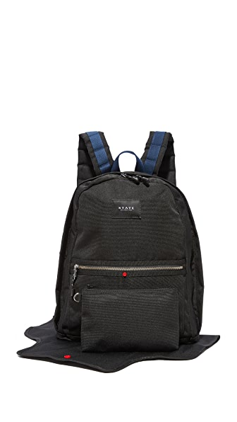 STATE Exclusive Highland Diaper Backpack - Black