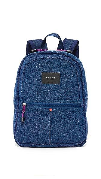 STATE Mini Kane Backpack - Blue Sparkle