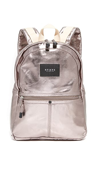 STATE Mini Kane Backpack - Chrome