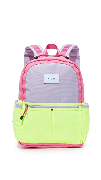 STATE Kane Coney Island Backpack - Pink/Lemon