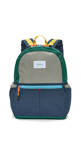 STATE Kane Coney Island Backpack - Green/Navy