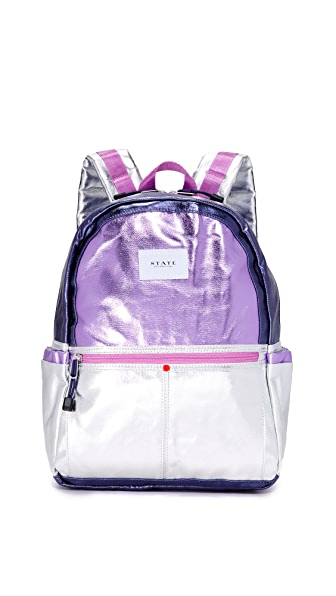 STATE Kane Downtown Backpack - Pink/Silver