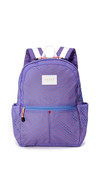 STATE Kane Perferated Hearts Backpack - Dusty Peri