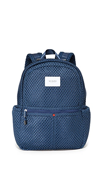 STATE Kane Mesh Backpack - Navy