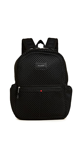 STATE Mini Mesh Kane Backpack In Black