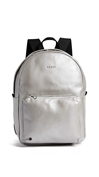 STATE Greenwood Mini Lorimer Backpack In Silver