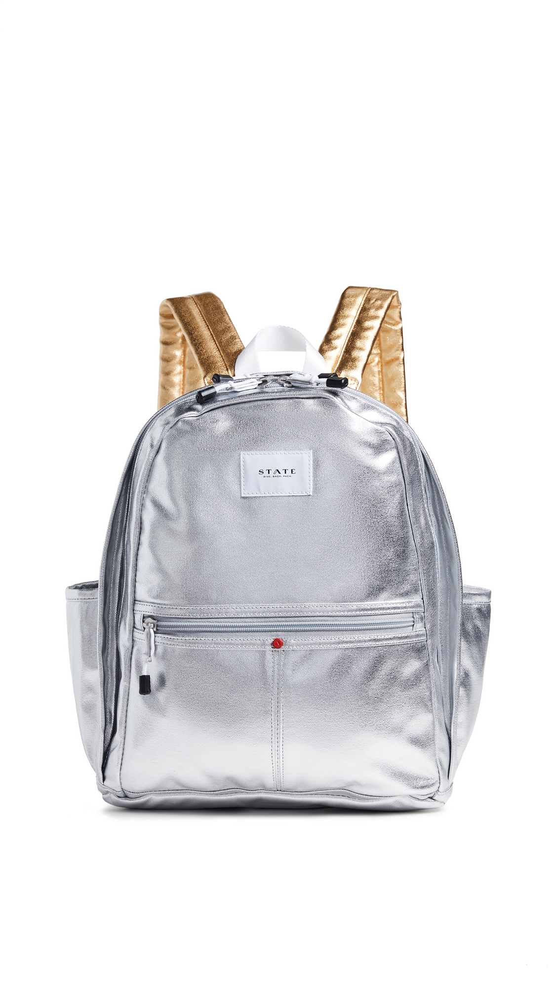 Kent Backpack in Silver/Gold