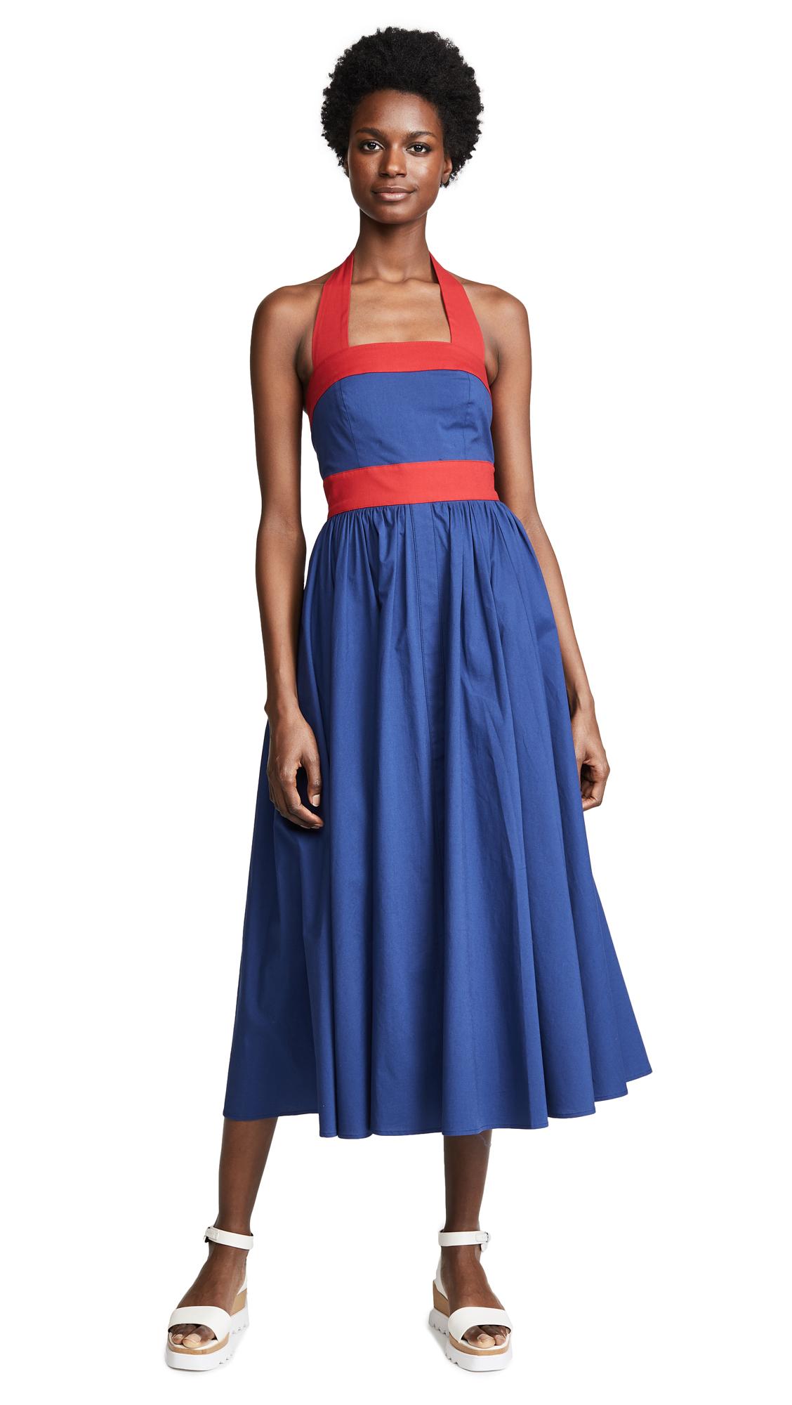 STAUD Waikiki Dress In Blue