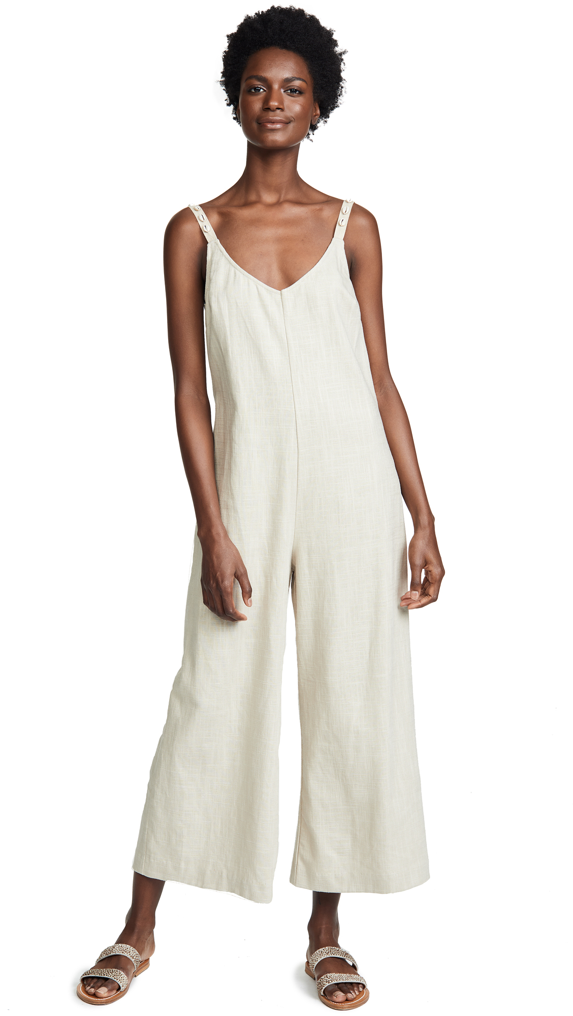 STAUD Phoenix Jumpsuit In Khaki